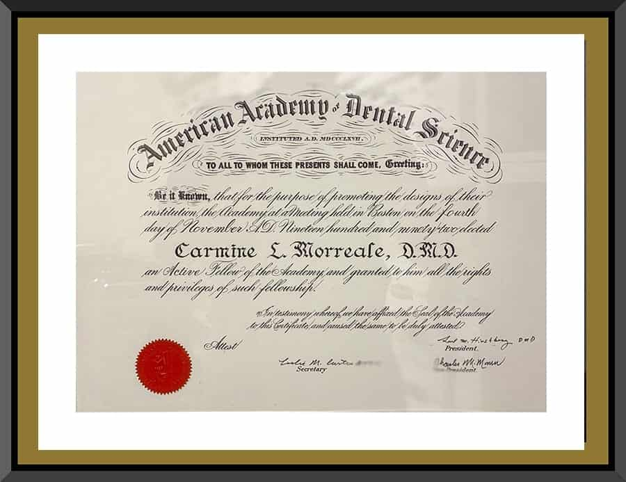 BCOH_Certification_American_Academy_of_Dental_Science_Fellowship 1986_IMG_1925s